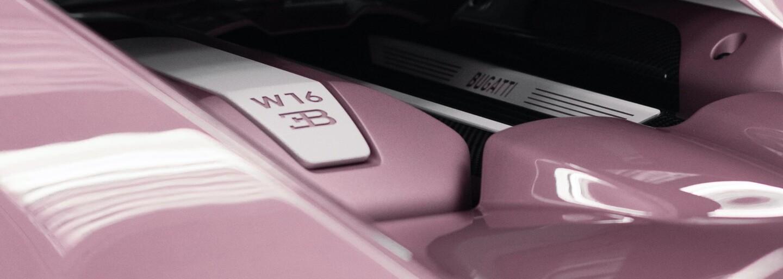 Zákazník nechal své ženě na Valentýna vyrobit Bugatti Chiron ve specifické růžovo-bílé kombinaci