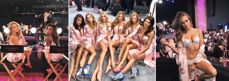 Zákulisí přehlídky Victoria's Secret bylo plné spoře oděných žen. Nejkrásnější modelky světa se před show bavily a fotily