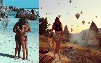Zamilovaný pár cestuje napříč celým světem, užívá si života naplno a nepotřebuje k tomu příliš peněz