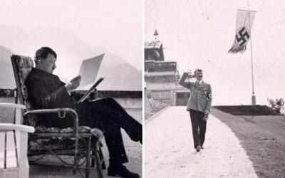 Zamyšlení i vtipkující. Nezveřejněné fotografie Adolfa Hitlera a Evy Braunové se dostaly po 72 letech na veřejnost