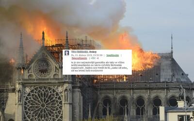 Zapálili ji muslimové, místo ní postaví mešitu. Vítejte ve válce, píši Češi k požáru Notre-Dame
