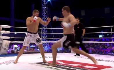 Zápasník MMA kopl svého soupeře a ošklivým způsobem si zlomil nohu hned v prvním kole zápasu