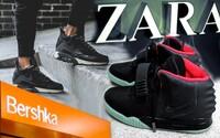 Zara a Bershka opět fušují do tenisek a odnesl to zejména Nike