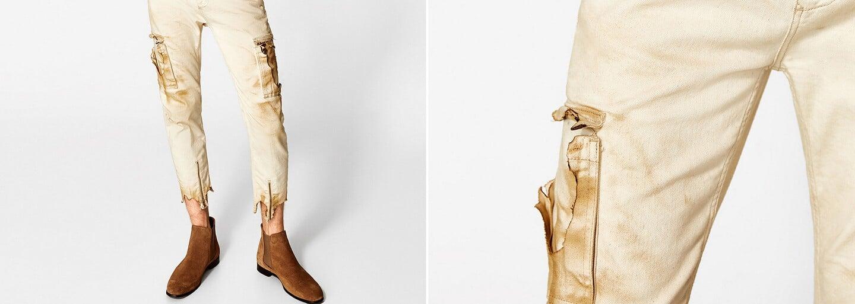 Zara pokračuje v trende zničeného oblečenia. Boli špinavé rifle predzvesťou novej módy?