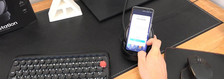Zařízení, které promění smartphone na osobní počítač. Jak funguje Galaxy S8 s dokovací stanicí DeX?