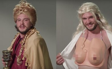 Zasmej sa na tom, ako Jon Snow paroduje Cersei či Daenerys. Kit Harrington vytiahol vo fingovanom kastingu do Game of Thrones svoje ženské zbrane