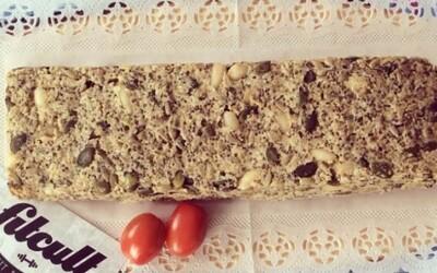 Zdravý fitness chlieb plný významných živín (recept)