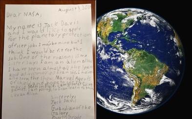 Zemi chce chránit teprve 9letý chlapec. Jack se sebejistě přihlásil na otevřenou pozici v NASA
