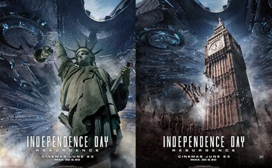 Zem postihne v Dni nezávislosti 2 globálna deštrukcia. Nové plagáty sú toho dôkazom