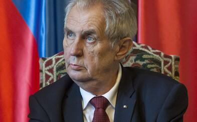 Zeman se vyjádří k útoku Ruska na Česko. Ale až za týden