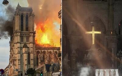 Žena tvrdila, že kříž v Notre-Dame přežil díky Bohu. Věda ji rychle vyvedla z omylu
