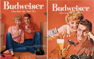 Ženy nie sú povinné nalievať mužovi pivo. Budweiser modernizuje staré sexistické reklamy
