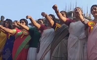 Ženy v Indii vytvorili ľudskú reťaz dlhú 620 kilometrov. Požadujú rovnosť s mužmi