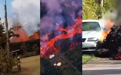 Žerie autá, ničí domy a vystrekuje zo záhrady. Láva na Havaji spôsobuje katastrofické škody a vytvára na internete virálne videá
