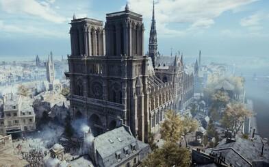 S obnovou Notre-Dame může pomoci Assassin's Creed: Unity. Ve hře je katedrála vyobrazena do posledního detailu