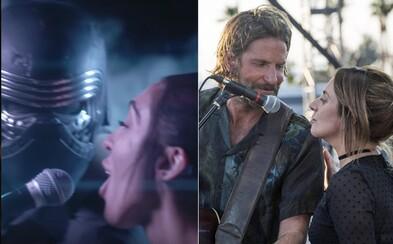 Žiadna Lady Gaga, ale Kylo Ren a Rey. Vtipná paródia na A Star Is Born chce rebelku vtiahnuť na temnú stranu sily