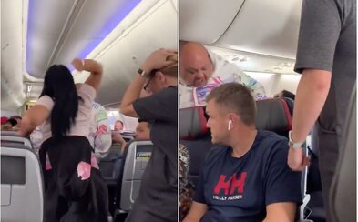 Žiarlivá žena zmlátila priateľa laptopom v lietadle. Zadržala ju polícia