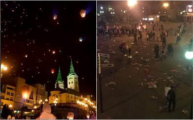 Žilinské lampióny počas Večera tisícov želaní po sebe zanechali množstvo odpadu