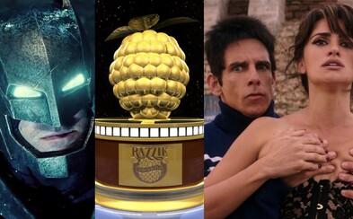 Zlaté maliny sú rozdané! Je najhorším filmom roka Batman v Superman a ktorí herci ostali najsmutnejší?