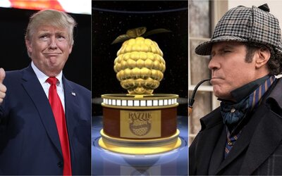 Zlaté maliny vyhlášeny: Nejhorším hercem roku je Donald Trump, nejhorším filmem Holmes & Watson