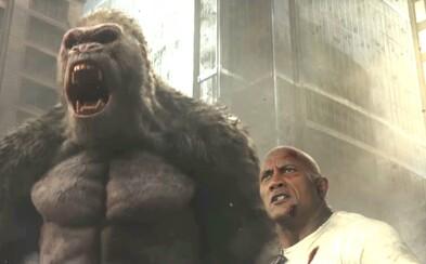 Zmutovaná gorila, aligátor a vlk sa chystajú vo výbornej ukážke k akčňáku Rampage zničiť svet a zabrániť im v tom môže jedine The Rock
