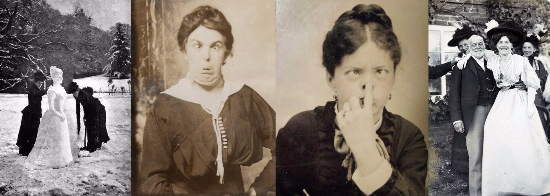 Zmysel pre humor nechýbal ani ľuďom v 19. storočí. Pózy, ktoré strúhali pred objektívmi, by sme im mohli závidieť aj dnes