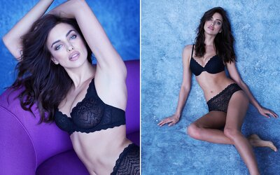 Zmyselná kráska Irina Shayk predvádza svoje nádherné telo v sexepílom nabitej kampani na spodnú bielizeň