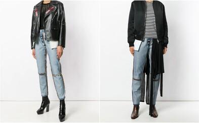Značka prevrátila džínsy naruby a za dizajnérske veľdielo si pýta 400 eur. Z niektorých vreciek navyše trčia zašité pančuchy