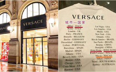 Značka Versace sa musela ospravedlniť za tričko, na ktorom neuviedla mestá Hongkong a Macao ako súčasť Číny