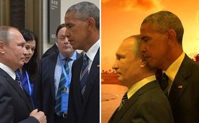 Znalci Photoshopu si vzali do parády setkání Putina s Obamou. Kdo z něj vyšel jako vítěz?