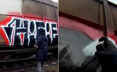 Známá jména pražského podsvětí se vydala posprejovat vlaky.Čerstvévideo ukazuje, jak tvoří svégraffiti