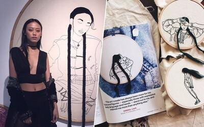 Známa modelka a fashion ikona chce vo svete preraziť unikátnym spôsobom. Vyšíva 3D portréty žien so zaujimavými účesmi