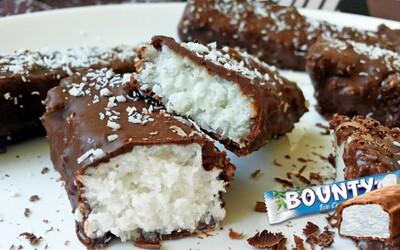 Známe a veľmi chutné Bounty tyčinky bez výčitiek (Recept)