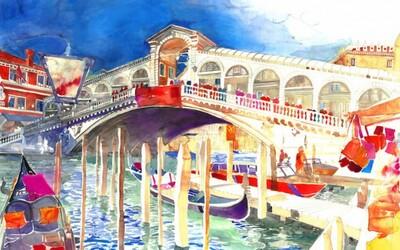 Známe miesta sveta zobrazené na detailných a pestrofarebných maľbách