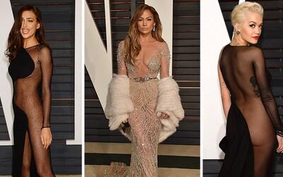 Známe osobnosti provokovali v šteklivých šatách na večierkoch po odovzdávaní Oscarov