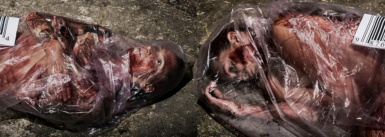 Znepokojujúce fotografie sa snažia poukázať na nadmernú konzumáciu mäsa. Čo keby si ľudia a zvieratá vymenili svoje roly?