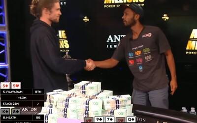 Zničil pokrových profesionálov a zo 100 eur urobil rovno 1 milión. Shurane sa na šampionát dostal vďaka výhre v amatérskom turnaji