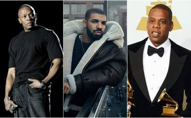 Zoznam 5 najbohatších hip-hopových umelcov sa zmenil. Drake v ňom nahradil 50 Centa