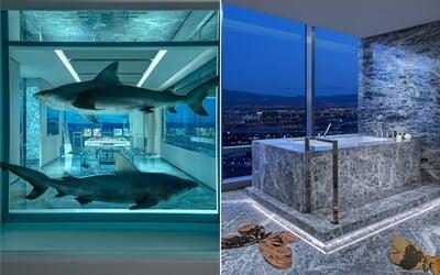 Žraloci a koupání s výhledem na Las Vegas. Nejdražší hotelový pokoj na světě stojí 2 miliony korun na noc