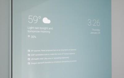 Zrkadlo, ktoré ti ukáže predpoveď počasia a prehľad správ? Nie, to nie je sci-fi