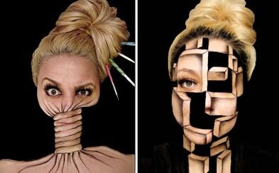 Zručnosti ako z iného sveta. Ines vďaka make-upu získava novú identitu, jedna maľba jej zaberie viac než 10 hodín
