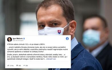 Zrušte akékoľvek rodinné oslavy a svadby, píše premiér Matovič, ktorý ich môže zakázať, na Facebooku
