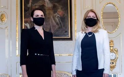 Zuzana Čaputová aj Igor Matovič prijali líderku bieloruskej opozície Cichanovskú. Slovensko stojí pri bieloruskom ľude, odkázali