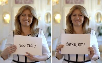 Zuzana Čaputová oslavuje sympatický rekord. Na Instagrame má už 300-tisíc followerov