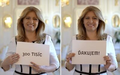 Zuzana Čaputová oslavuje sympatický rekord. Na Instagramu má již 300 tisíc followerů