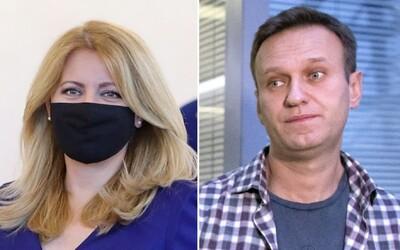 Zuzana Čaputová ostro odsúdila otravu ruského opozičného lídra. Testy v Nemecku naznačujú, že naozaj išlo o jed
