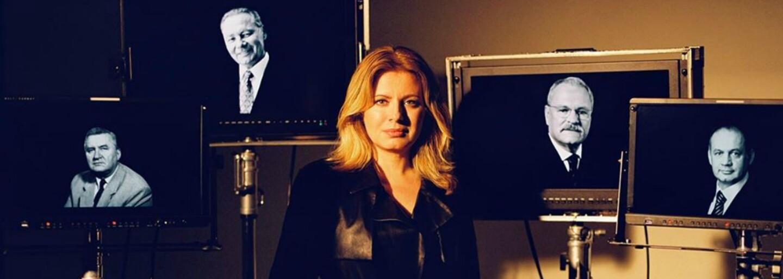 Slovenská prezidentka podporuje domácí módní tvorbu. Tentokrát na záběru s bývalými prezidenty v černém koženém kabátě