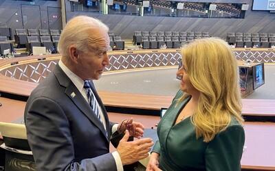 Zuzana Čaputová sa v Bruseli stretla s Joeom Bidenom. Americký prezident vraj ocenil pokrok Slovenska