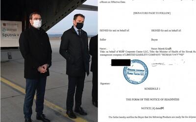 Zverejnili zmluvu o vakcíne Sputnik V, ktorú Matovič nečítal. Podpísal ju Krajčí, zaplatiť sme mali 16 miliónov eur