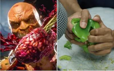 Zvuky brutálnych útokov z Mortal Kombat vznikajú stláčaním zeleniny či praskaním orechov